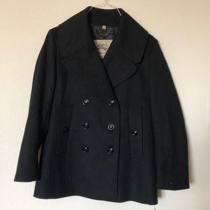Woman's Burberry black wool coat size 12